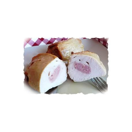 (PP) Pechuga de Pollo Rellena rebozada con Salvado de Avena